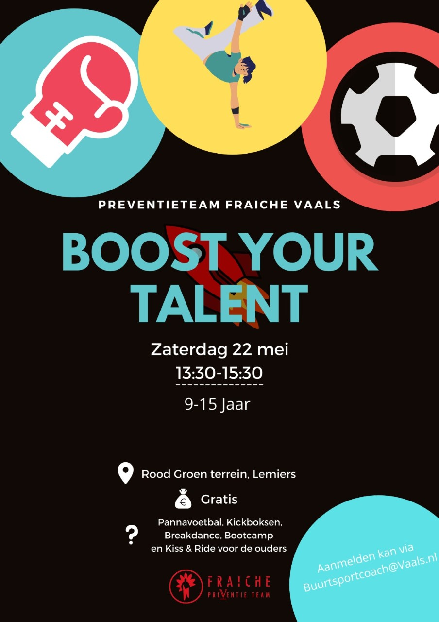 Boost your talent @ Sportcomplex Molenveld